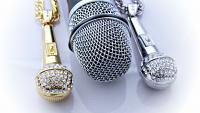 Microphone Necklace  Large Hip Hop /Rapper -Gold or Silver