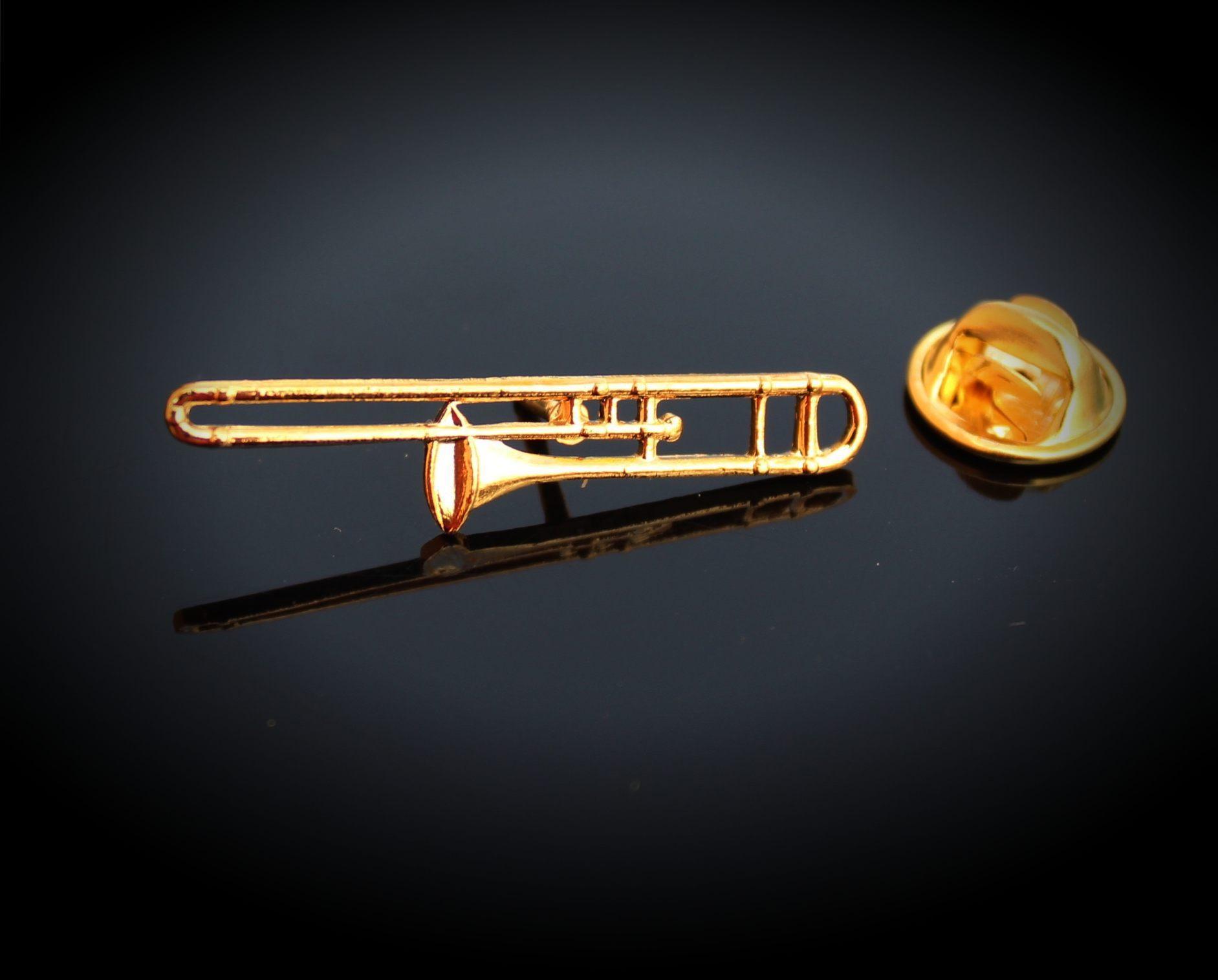 Trombone Pin Badge | Music Jewellery Online