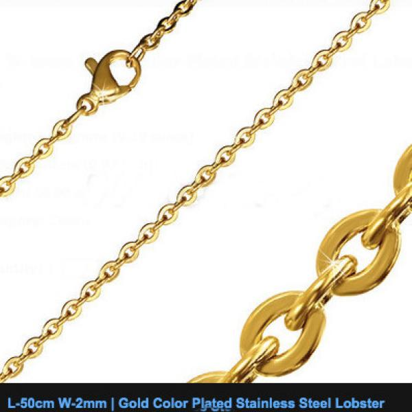 50cm Gold Colour Stainless Steel Oval Link Chain