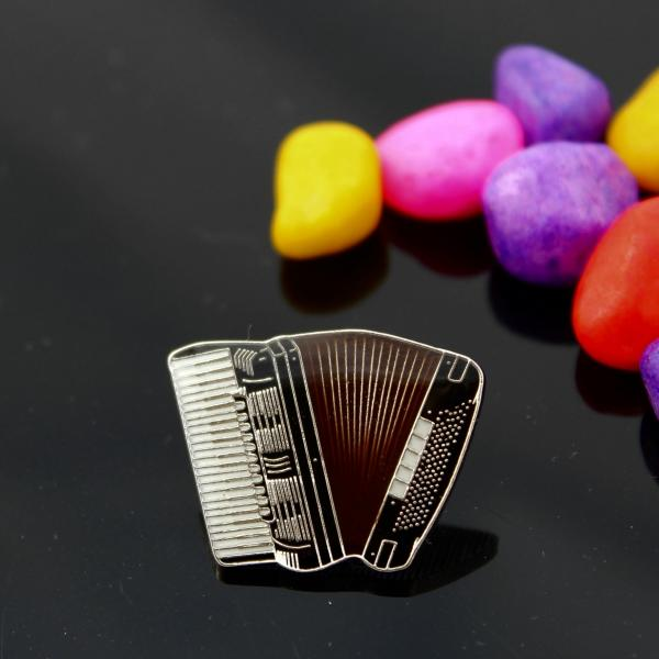 Accordion Musical Instrument Pin Badge