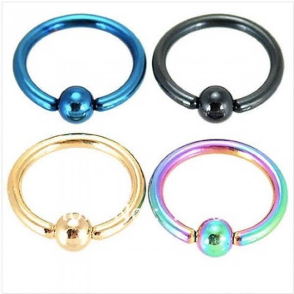 Titanium Stainless Steel Anodized BCR Rings 16G -10mm - Choice of Colours