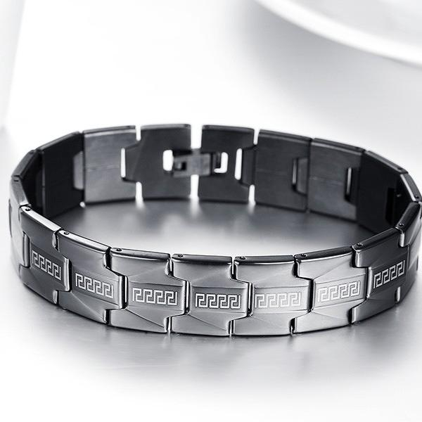 Black Stainless Steel Mens Bracelet