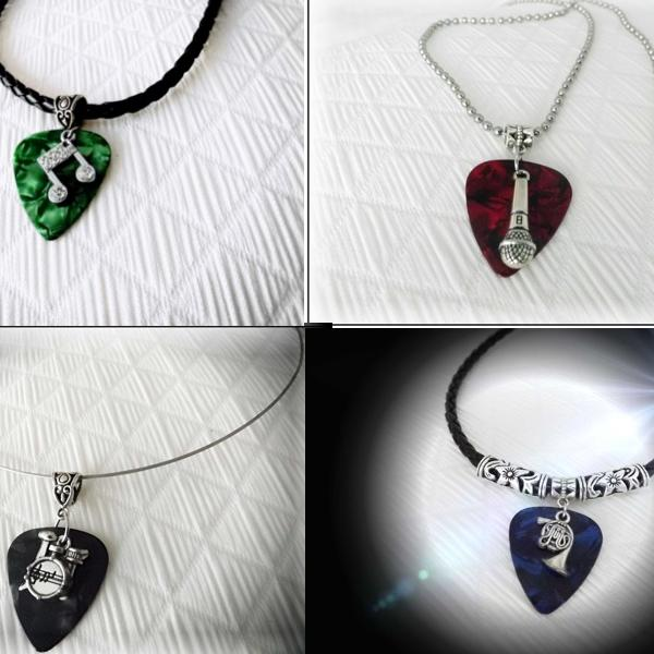Guitar Pick Jewellery - Choice of Instruments