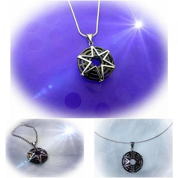 Paloma Star Circle Pendant in Stainless Steel- Customise This!