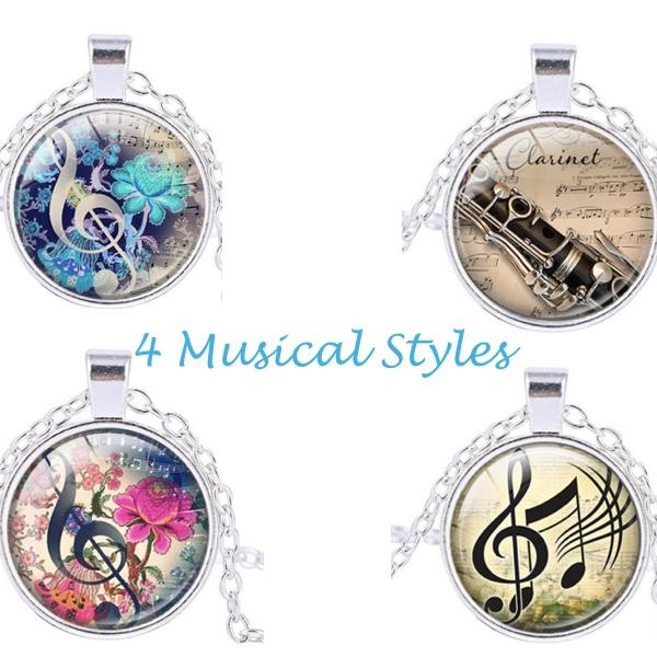 Music Pendant - Cabochon Style - Choice Of Designs