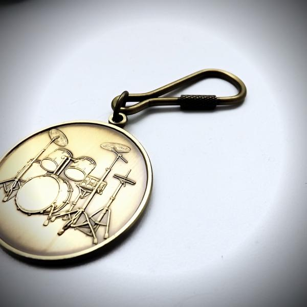 Drum kit keychain