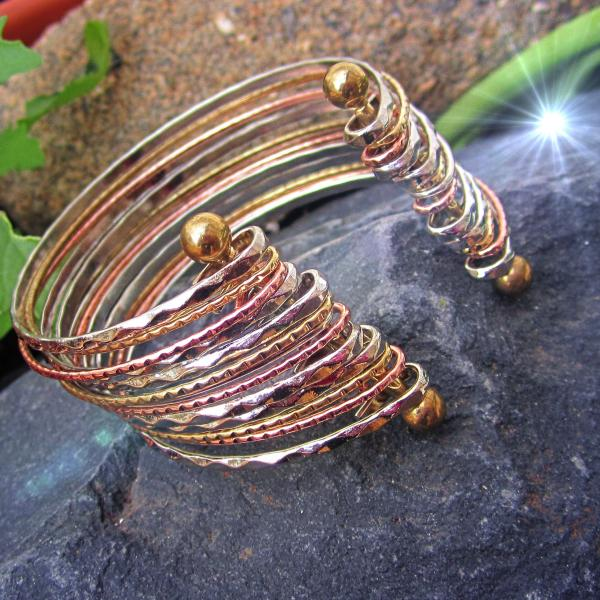 Ethnic Copper Twisted Cuff Bangle