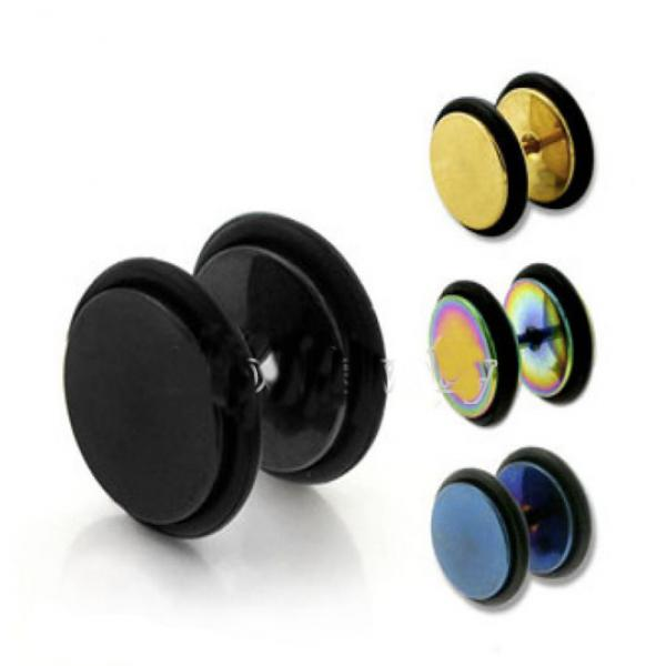Fake Ear Plug with O-Rings - Titanium