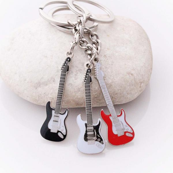 Mini Guitar Keychain Fender Stratocaster Style