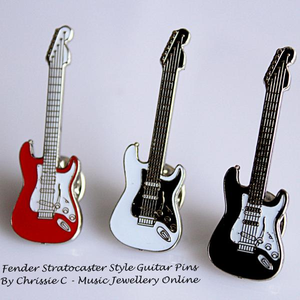 Fender Stratocaster Style Guitar Pin - 4 Colours