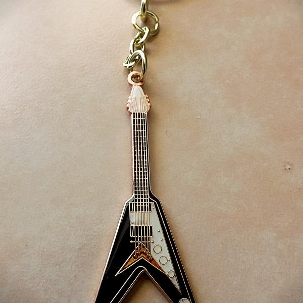 Gibson Flying V Guitar Keyring / Keychain