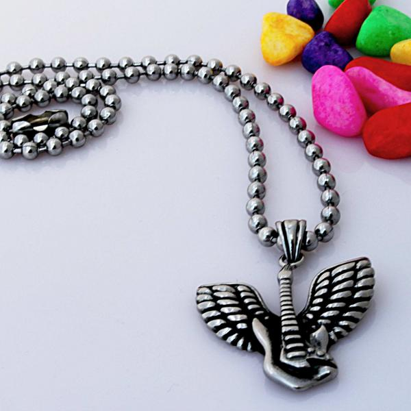 Guitar With Guardian Angel Wing Biker Music Pendant  - Customise!