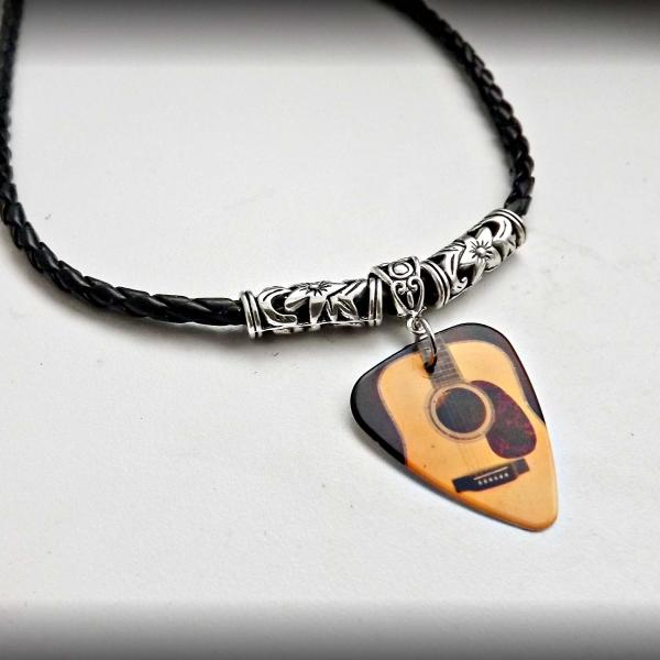 """Guitar Body"" Image Choker Necklaces - Customisable!"