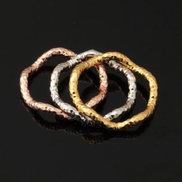 Triple Layer Stackable 3 Colour Ring