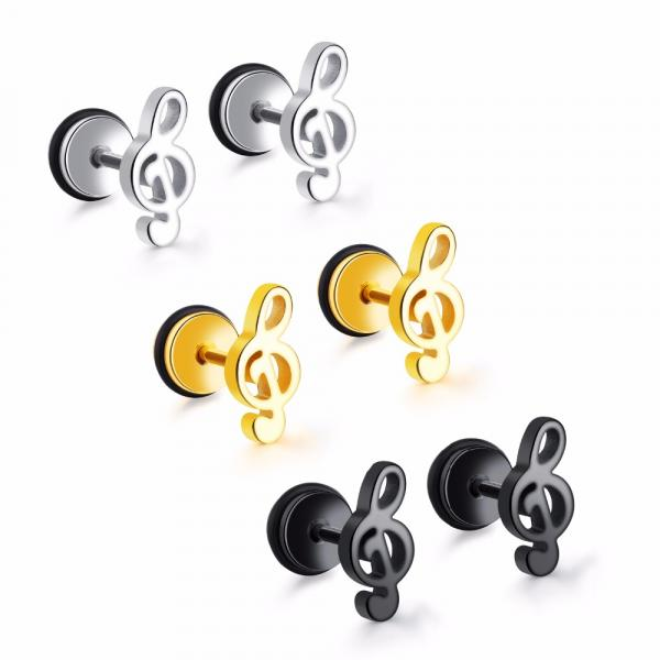 Music Note Treble Clef Earrings