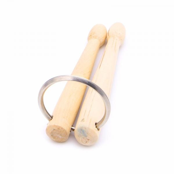 Drum Sticks Keychain/Keyring - Wooden Drumsticks