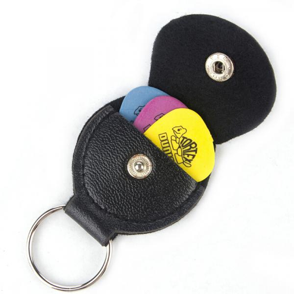 Guitar Pick Holder Keychain / Keyring with Free Pick
