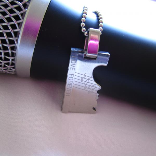 Musical Notes Jigsaw Tag Pendant