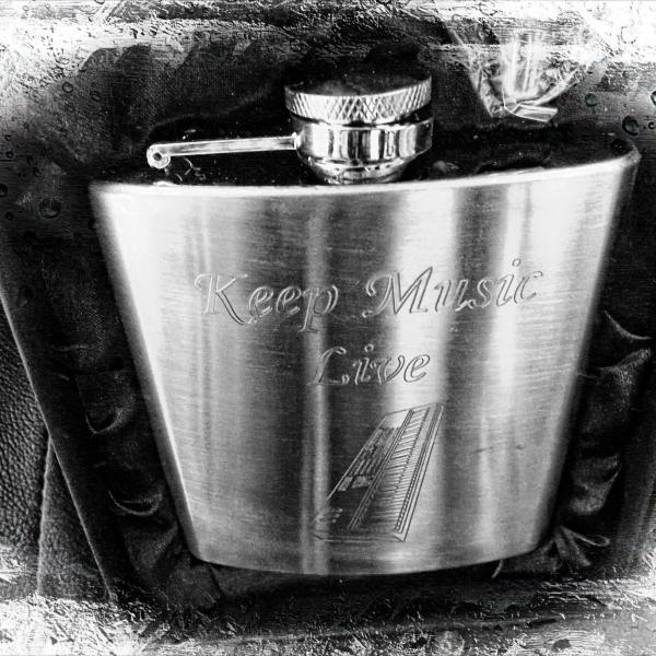 Hip Flasks With Musical Theme