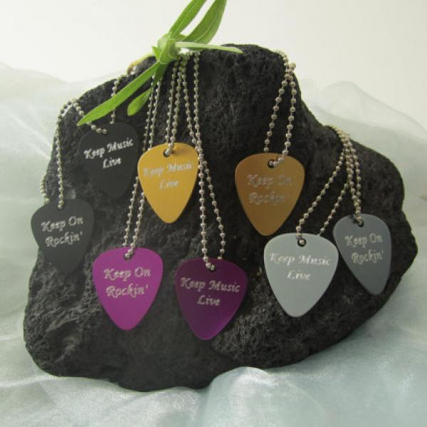 Guitar Pick Metal Necklace