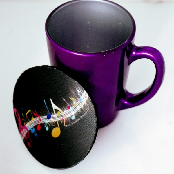Music Coasters - Colourful Abstract Music Theme
