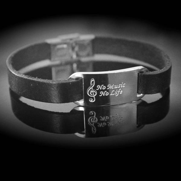 Music Inspirational Quote Bracelet - No Music No Life