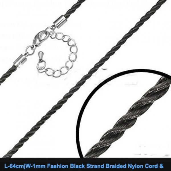 64cm Braided Nylon Cord With Extender Chain.
