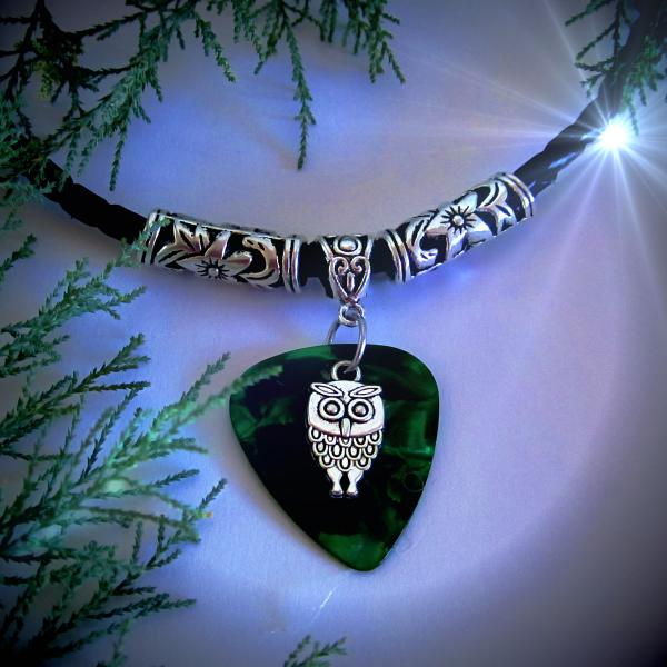Owl Necklace & Choker on Guitar Pick