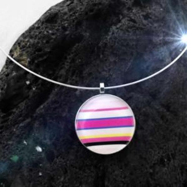 Rainbow Candy Colourful Funky Pendant