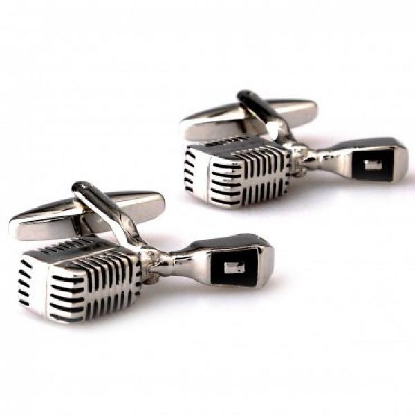 Reslo Microphone Cufflinks in Stainless Steel