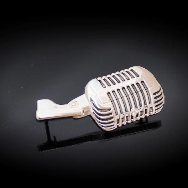 Microphone Pin Badge Reslo Style - 3D