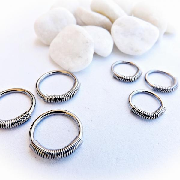 Steel Spring Wire Captive Ring BCR Body Piercing Jewellery
