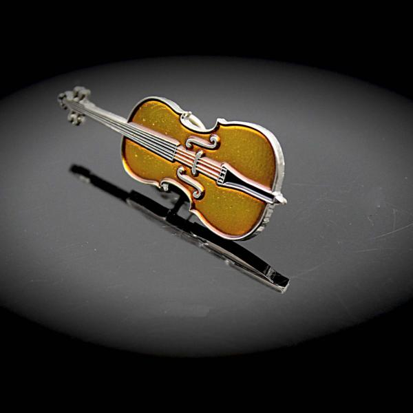 Cello pin badge from Music Jewellery Online
