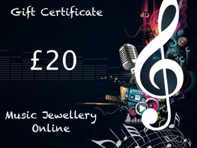 Gift Voucher From Music Jewellery Online