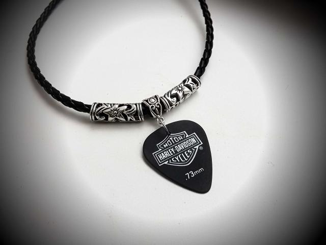 Motorbike Guitar Pick Choker Necklace - Customisable!